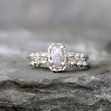 engagement rings awesome vintage amethyst matching engagement ring and wedding band rough diamond rings