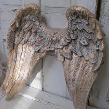 Wings Wall Decor Large Angel Wings Wall Sculpture Hand Painted Golden Accented In