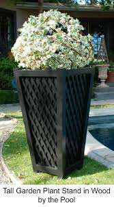 Wooden Patio Plant Stands by 47 Best Garden Planters Images On Pinterest Garden Planters