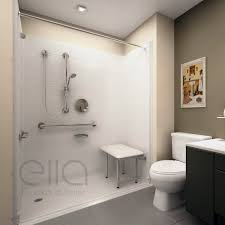 barrier free roll in shower kits ella u0027s bubbles
