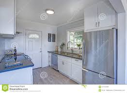 small kitchens with white cabinets cozy and small kitchen with white cabinets stock photo