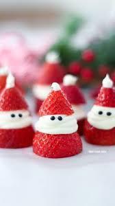 Christmas Treats 3 Ingredient Strawberry Santas For Christmas Adorable Christmas