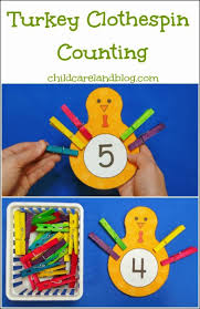 turkey clothespin counting great for motor development as