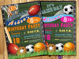 theme invitations sport party invitations all invitation sports theme boys or