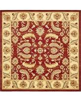 10 Square Area Rugs Deal Alert Unique Loom Versailles Collection Red 10 Ft Square