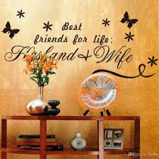 best friends for life husband wife quotes wall decals black when putting up the wall sicker compcat style and loose style are avaliable you can adjust distance beetween two stickers to meet your need