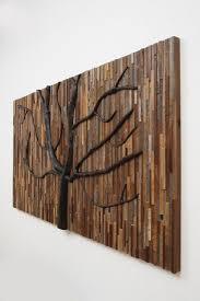 wall decor made of wood chairs made of branches tree sculpture made with reclaimed