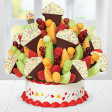 edible deliveries grand confetti fruit cupcake edible arrangements