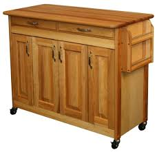 kitchen butcher block island small cart style with plate fruits