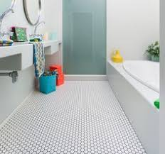 bathroom floor ideas vinyl sheet vinyl that looks like hexagonal tile from linoleum city