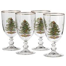 spode tree set of 4 pedestal goblets spode usa