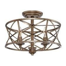 Kitchen Lighting Flush Mount by Shop Kichler Lighting 14 02 In W Olde Bronze Metal Semi Flush