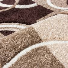 Area Rugs With Circles Echo Shapes U0026 Circles Ivory Beige Brown Modern Geometric Comfy