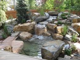 Rock Water Features For The Garden Backyard Small Garden Water Feature Ideas Waterfall Kits For