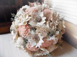 sola flowers rustic garden pink bridal bouquet sola flowers burlap lace