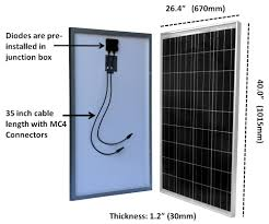 Solar Street Light Technical Specifications by Windynation 100 Watt 12v Polycrystalline Solar Panel Complete Kit