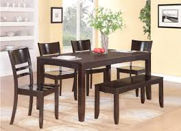 exquisite decoration dining table with bench seating prissy design
