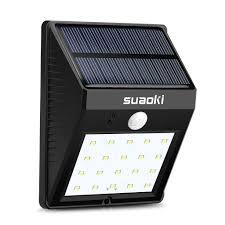 led solar security light suaoki solar panel 800mah 20 led solar motion sensor light