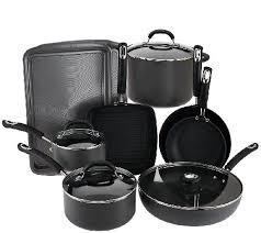 Cuisinart Dishwasher Safe Anodized Cookware Circulon 13 Piece Hard Anodized Dishwasher Safe Cookware Set