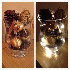 Christmas Lights In A Vase by Diy Christmas Decorations Made Using A Vase Battery Fairy