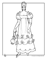victorian doll with purse coloring page woo jr kids activities