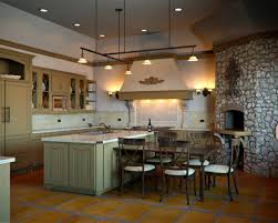 kitchen design ideas with stone wall outofhome