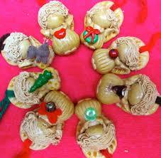 ornaments salt dough vintage set of 8 hanging