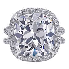 Diamond Cushion Cut Ring 8 Carat Center Cushion Cut Diamond Platinum Ring For Sale At 1stdibs