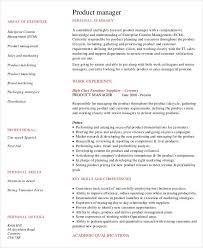 Product Marketing Manager Resume Example by Professional Manager Resume 49 Free Word Pdf Documents