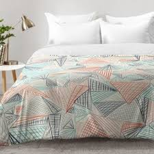 Geometric Duvet Cover Modern Geometric Bedding Sets Allmodern