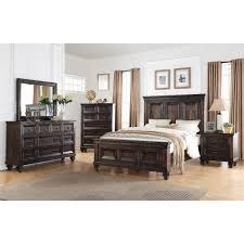 bedroom set classic traditional walnut brown 6 piece king bedroom set