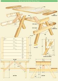 Wood Folding Table Plans Wood Folding Picnic Table Plans Plans Diy Free Merrilegs