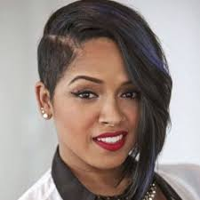 black natural hair with shafed sides asymmetrical shaved side hairstyle for black women natural hair