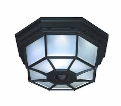Motion Activated Indoor Ceiling Light Heath Zenith Sl 4300 Bk B 360 Degree Motion Activated Octagonal