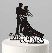 black wedding cake toppers 11 design black acrylic groom mr mrs cake