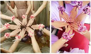 flower band bridesmaid wrist flower band 3 pcs 12pcs onesimplegown