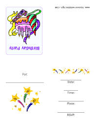 perfect free printable birthday party invitations 45 for card