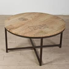 round industrial coffee table u2013 ballard designs industrial round