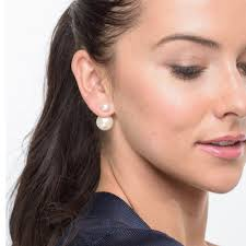front to back earrings 8 13mm freshwater pearl front back earrings in 14k gold pearls