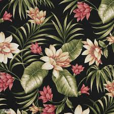Upholstery Fabric Hawaii Pink And Black Hawaii Large Tropical Flower Upholstery Fabric