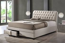 baxton studio ainge contemporary button tufted fabric upholstered