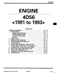 mitsubishi 4d56 engine manual on mitsubishi images tractor