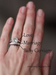 how to wear wedding ring set yes a band with baby s birthstone to wear your