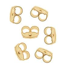 gold earring backs 14k gold filled earring backs ear nuts 3 pairs walmart