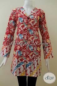desain baju batik halus batik lengan panjang desain formal cocok untuk seragam kerja blus