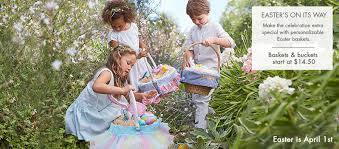 personalized easter baskets for kids easter gifts personalized easter gifts for kids pottery barn kids