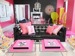 Black And White And Pink Living Room Design Home Design Ideas - Pink living room design