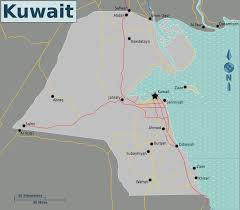 kuwait on a map file map of kuwait png wikimedia commons
