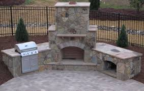 outdoor brick fireplace plans free home design lover best and
