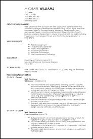 Sample Resume For Internship In Computer Science by Free Entry Level Web Developer Resume Templates Resumenow
